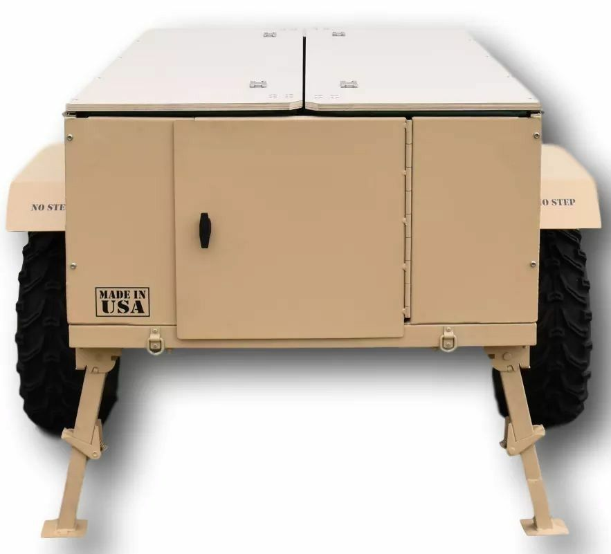 Ghost M1 Tactical Off Road Utv Atv Towable Pop Up Camper Pop Up Camper Locker Storage Atv