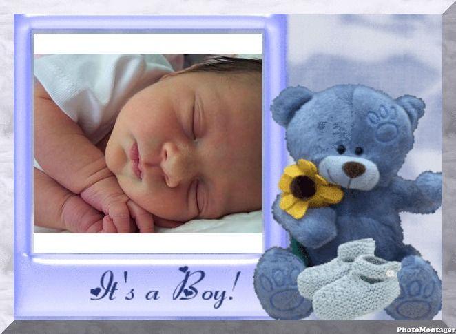 Marcos Y Efectos Para Fotos | Marcos de fotos celestes para bebés ...