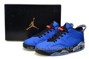 Air Jordan 6 Retro Low Eminem Custom Royal Blue Black-Grey Online ... 1353289dfd