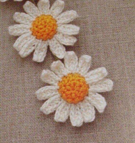 daisy-crochet-flowerr-pattern. ﻬஐCQஐﻬ crochet spring crochetflowers flowers