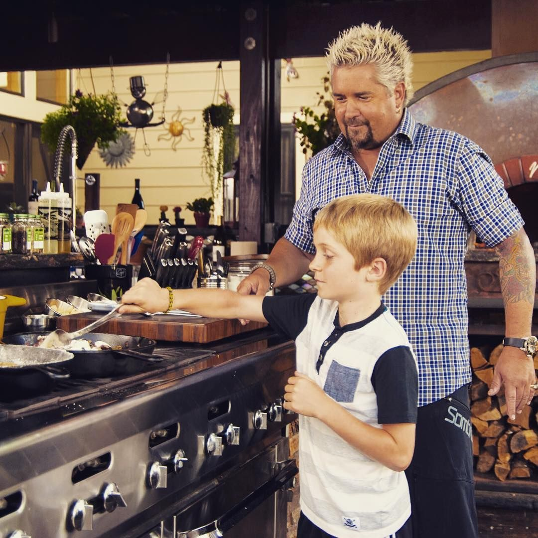Guy Fieri Outdoor Kitchen Home - Living