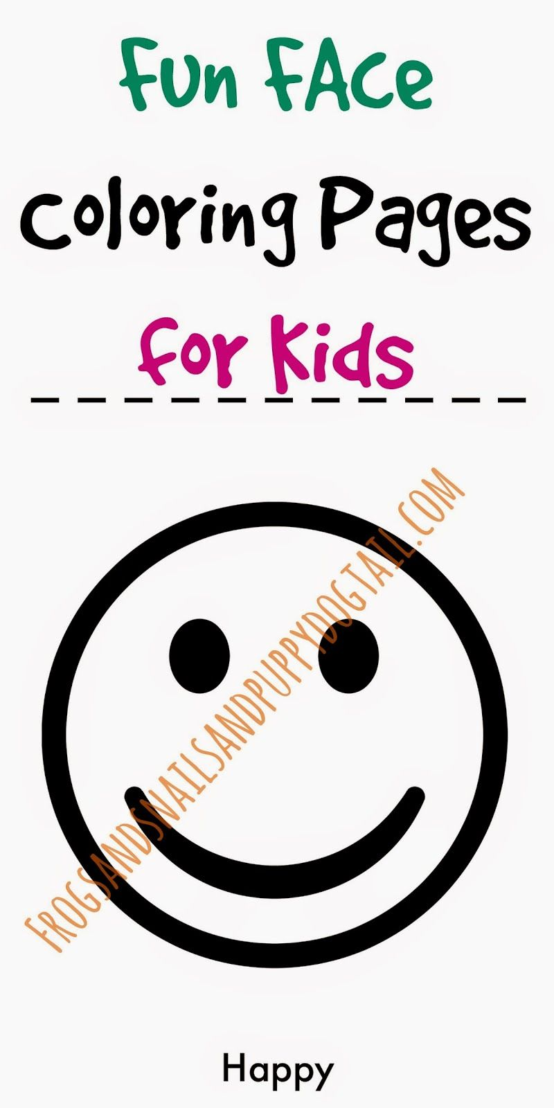 Fun Face Coloring Pages for Kids | Preschool education, Teaching ...