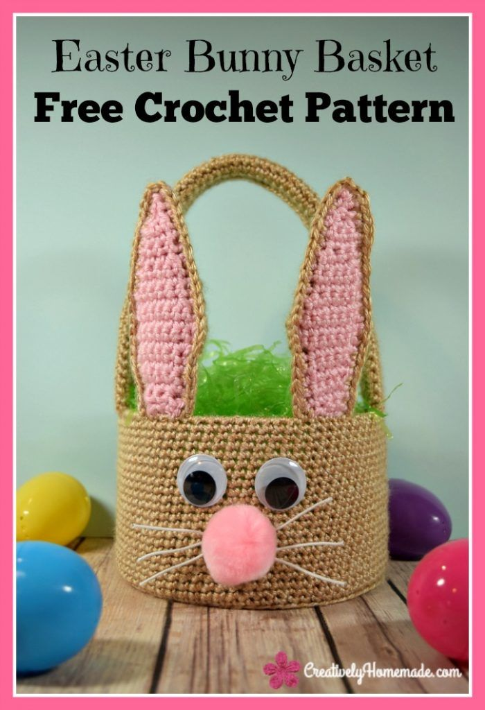 Easter Bunny Basket Crochet Pattern For Boys Or Girls Instant Pdf