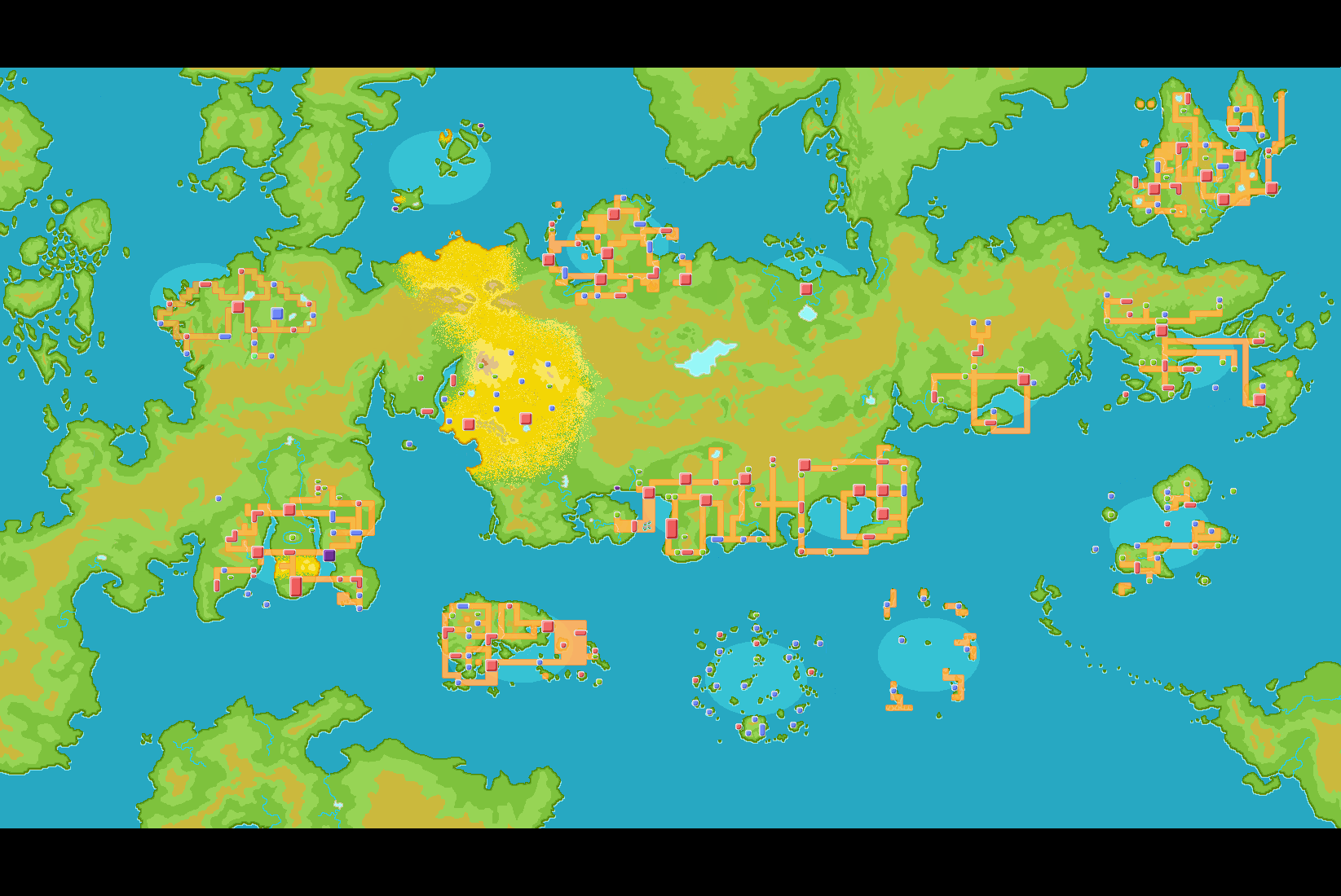 Pokemon World Map | Pokemon, Map, Animation