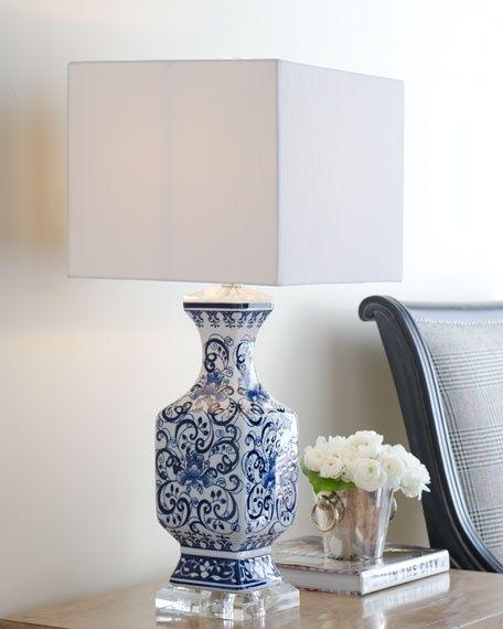 Toile Scenes Lamp Blue White Decor Home Goods Decor Decor