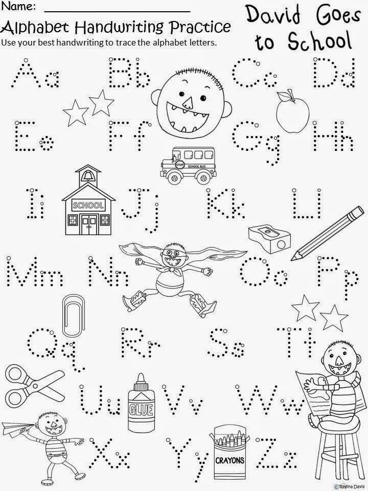 Free David Goes To School Handwriting Paper Based on