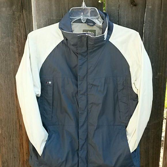 BURTON Snowboarding Jacket Blue and Cream. Lots of pockets Burton Jackets & Coats