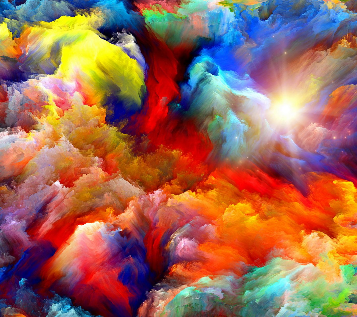 Rainbow Art, Colorful Abstract Art