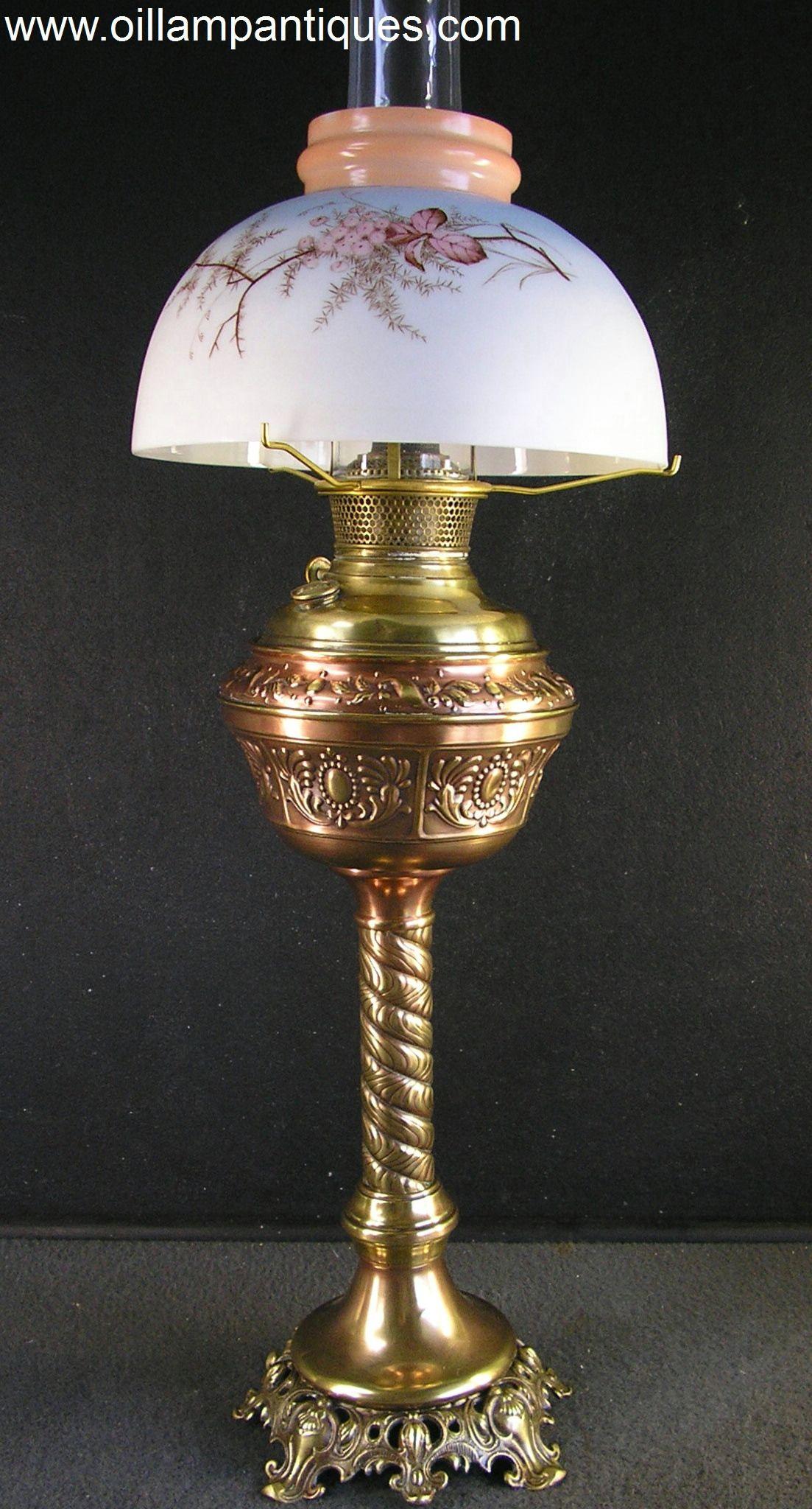 Copper and Brass Banquet Oil L& Kerosene L& & Copper and Brass Banquet Oil Lamp Kerosene Lamp | My