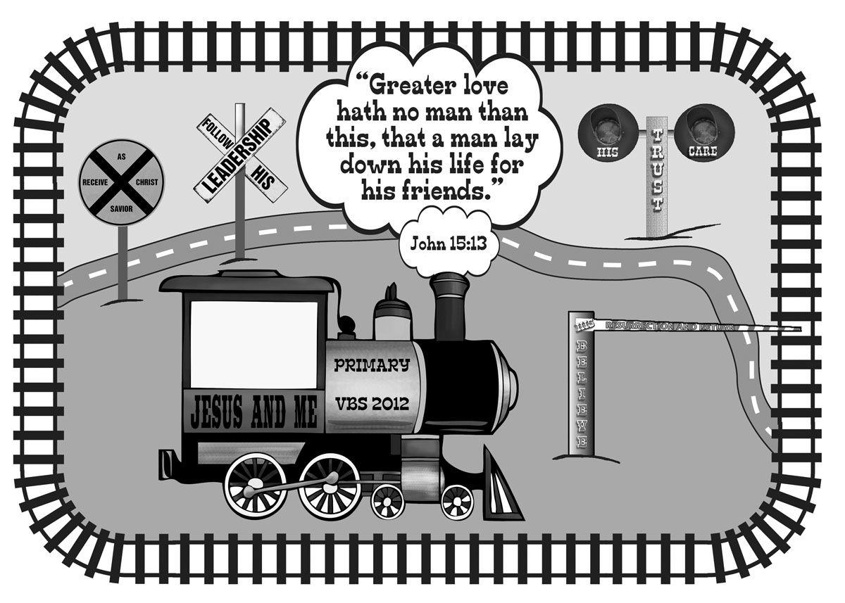 VBS Bulletin Board Idea - Train Engine