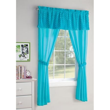 Your Zone 5 Piece Poodle Curtain Set Walmart Com Girls Bedroom Curtains Curtains Curtain Decor