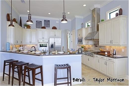 Home inspiration.  Kitchen from Barelli at Treviso Bay, from Taylor Morrison.