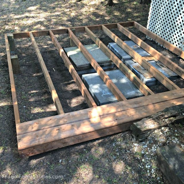 How to make a hot tub deck for $250 and 2 hours work (for our very portable Swift Current spa) | Frugal Family Times #hottubdeck