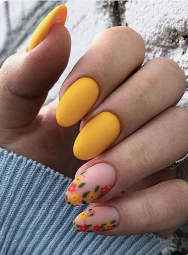 60+ Yellow Nails in Stiletto, Almond, Square and Coffin Shapes