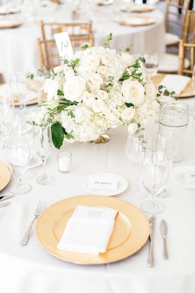 Neutral & Elegant Outdoor Wedding | Wedding table settings, White ...