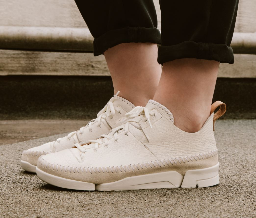 Clarks Originals Trigenic Flex Trainers In White best prices sale online discount 100% original GaBvoW