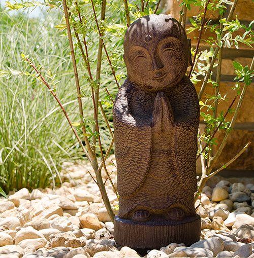 Large Smiling Jizo Garden Statue   Antique   Buddha Garden Statues Garden  Statues