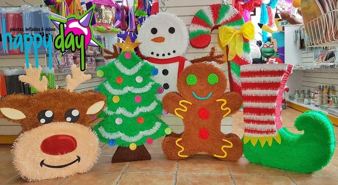 Pinatas Navidenas 2017 Happy Day Pinatas Originales Navidenas Pinatas Cuadradas Pinatas Navidad