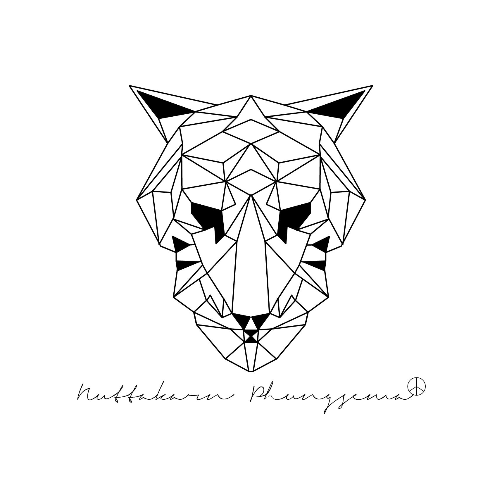 Tiger Origami Graphic