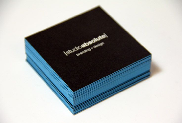 Pin On Edge Painted Business Cards