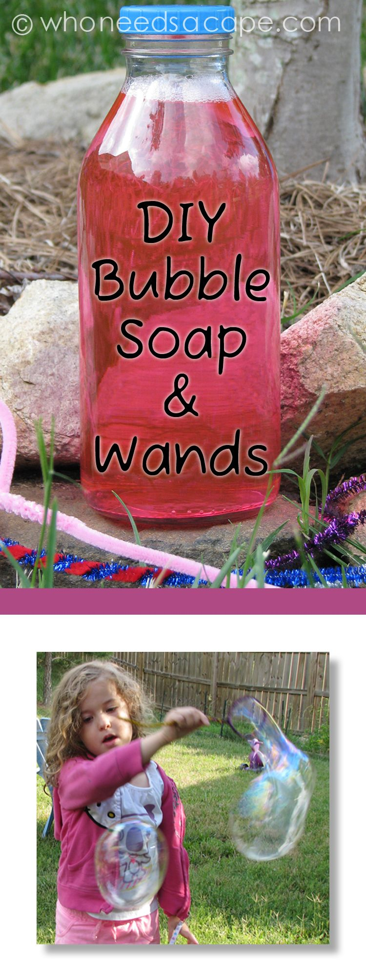 DIY Bubble Soap and Wands — make your own summer fun with