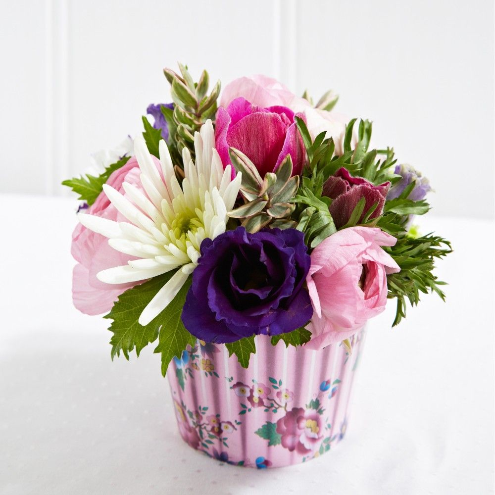 Cupcake mothers day pinterest cupcake flower flower an ideal present a little scrummy floral cupcake flower arrangement from florist shaws of amersham a beautiful selection of flowers in a cupcake case izmirmasajfo Image collections