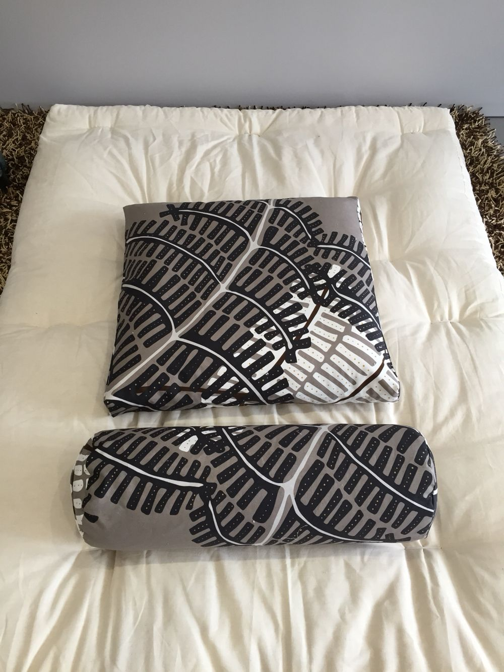 Custom made bolsters and meditation pillows made with 100