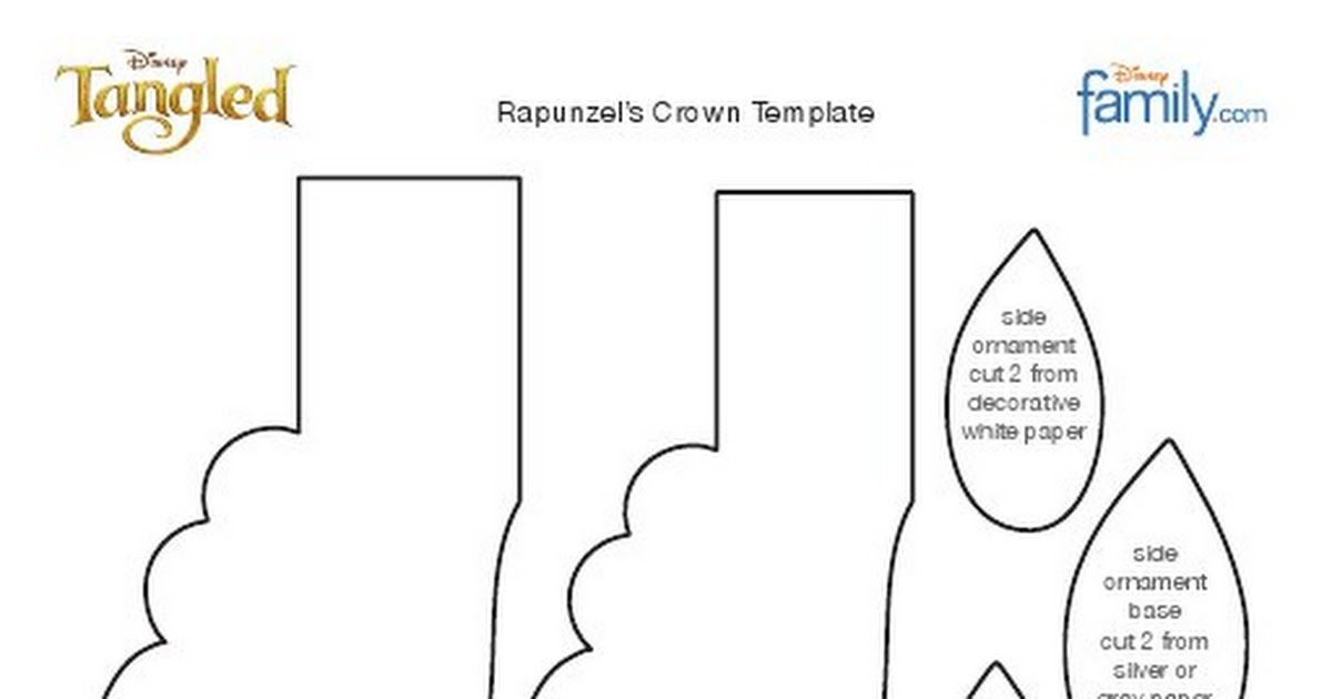 Tangled Rapunzel Crown Craft Template 1010pdf