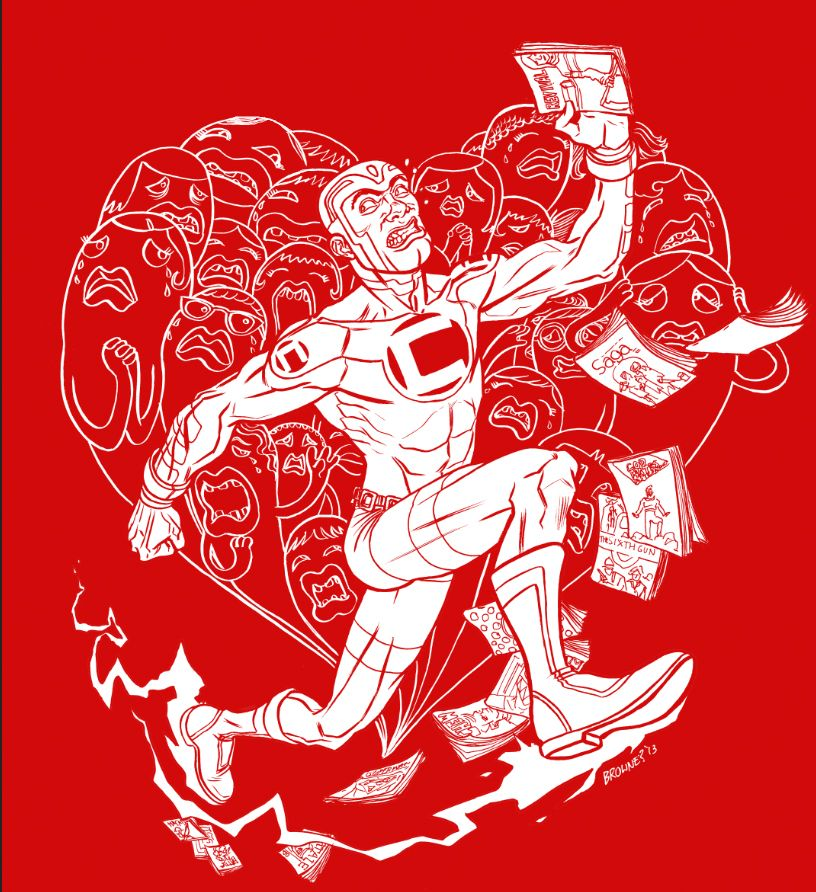 "Ryan Browne's ""I Love You But I've Chosen Comics"" t-shirt design! ©Challengers, Inc. 2014"