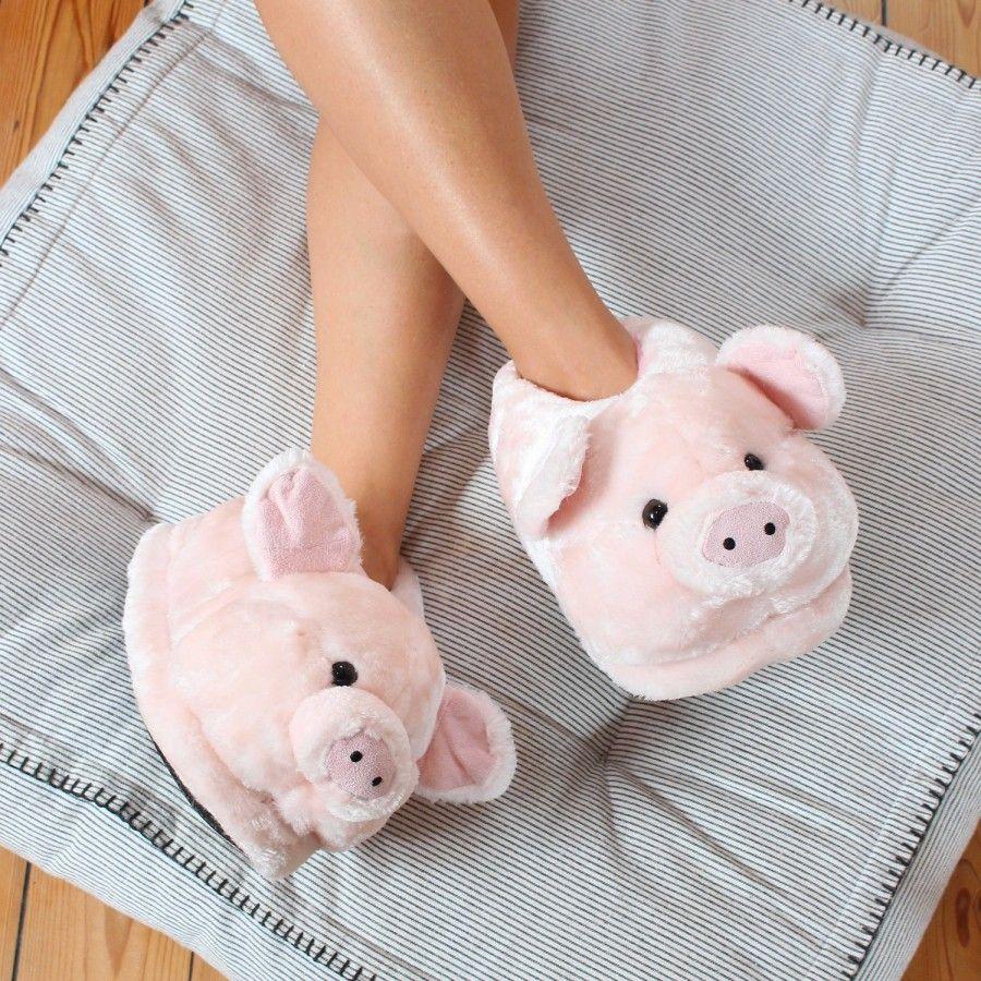 Zapatillas De Estar Por Casa En Forma De Animales Cerdo Para Hombre Mujer Y Niño Sleeper Z Pantuflas De Peluche Zapatillas Bonitas Zapatillas De Fieltro