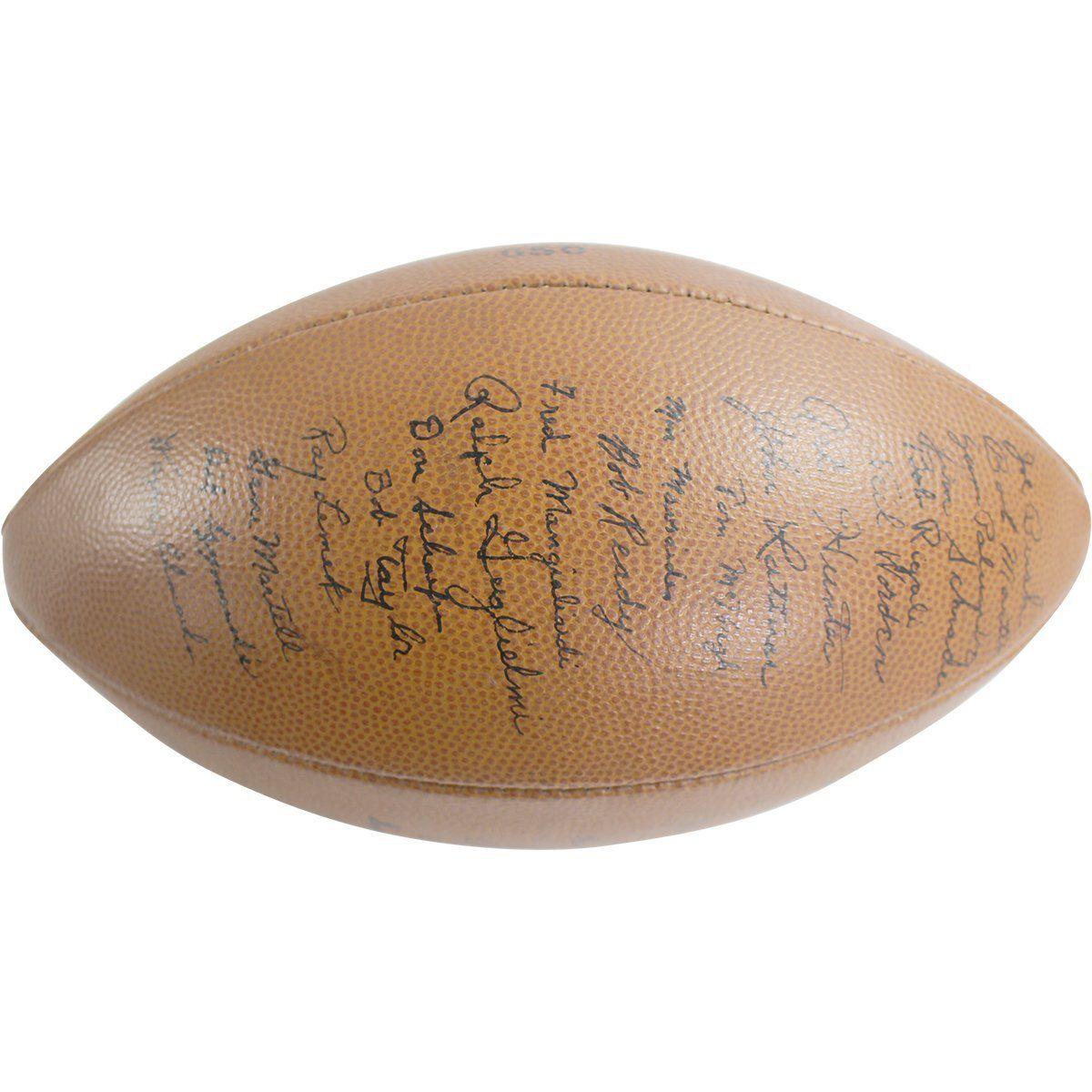 1953 Notre Dame Football Team Signed 35 Sig Football JSA