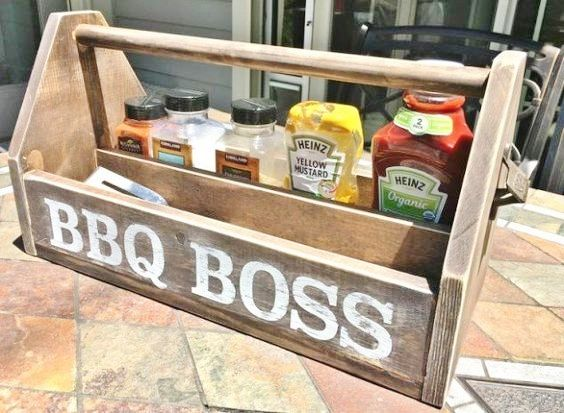 How To Make Diy Wood Bbq Caddy Moederdag Vaderdag