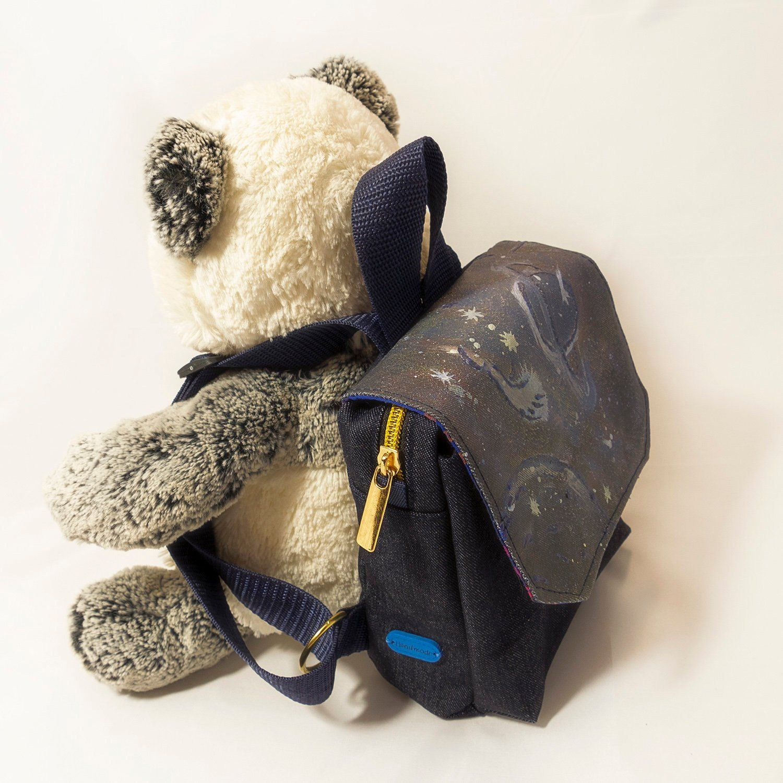 Toddler backpack, Denim Backpack for little baby Denim