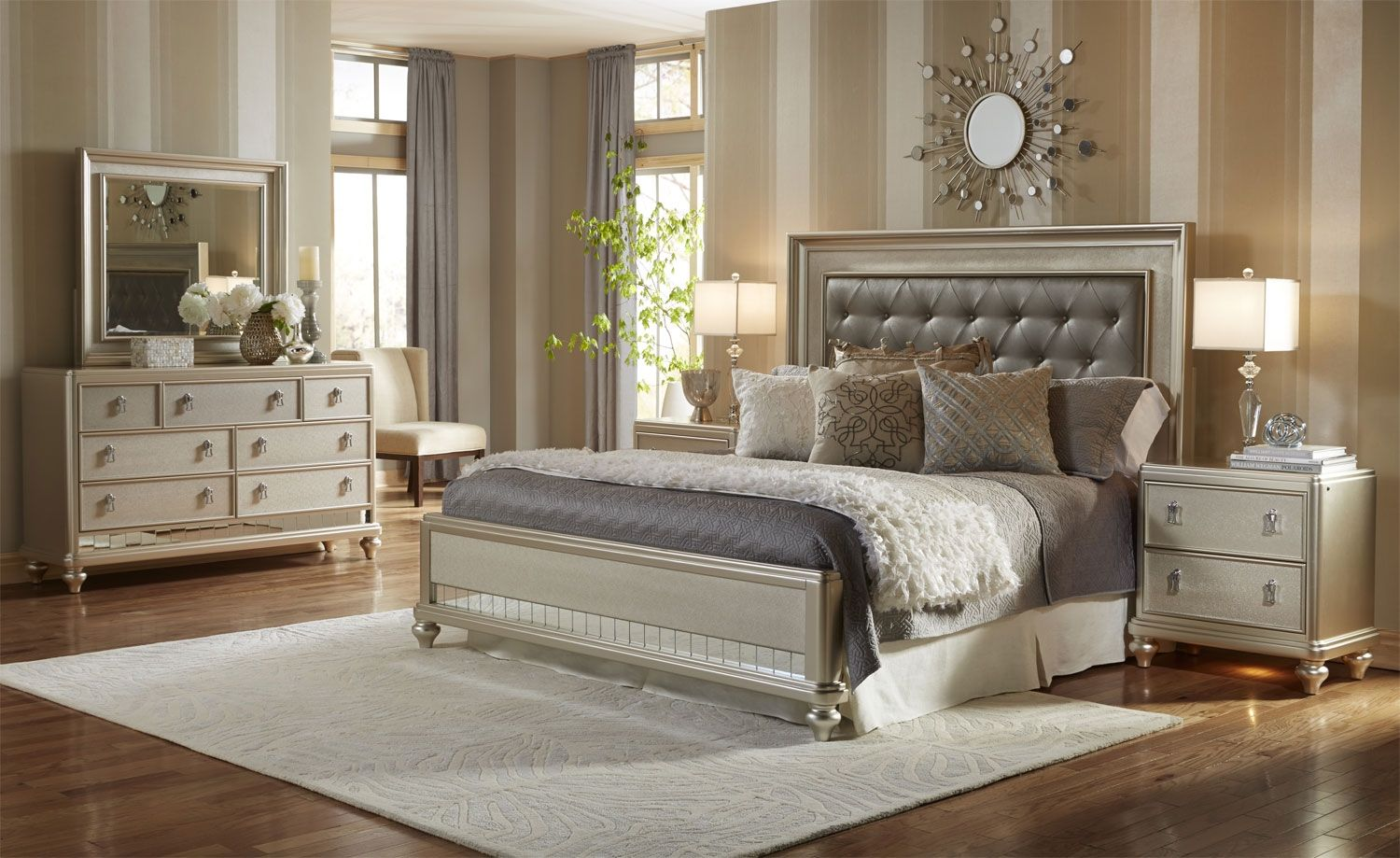 Create an alluring bedroom ambience with this