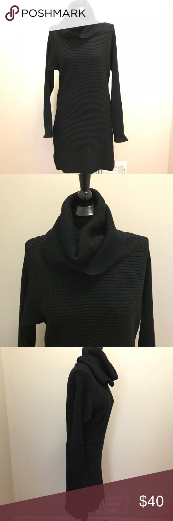 Black longsleeve sweater dress pinterest