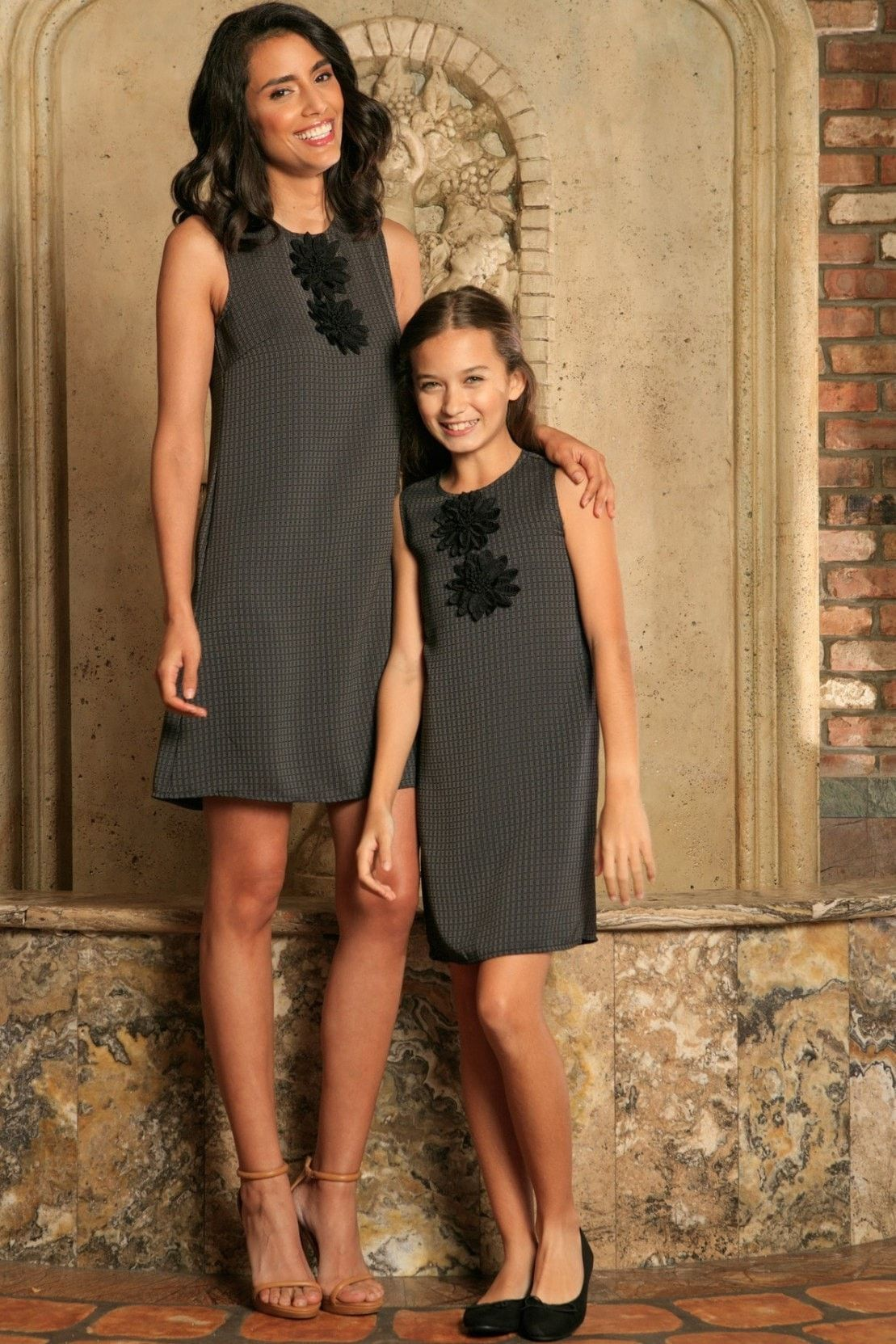 1cb6732bcda Black Grey Sleeveless Fancy Classy Party Cute Shift Mommy and Me Dress