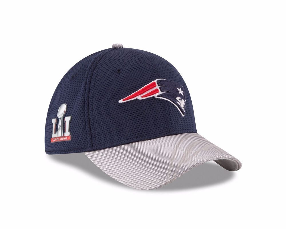 New Era NFL New England Patriots Superbowl LI Side Patch Sideline 39THIRTY  Hat  NewEra  NewEnglandPatriots 081209ac1