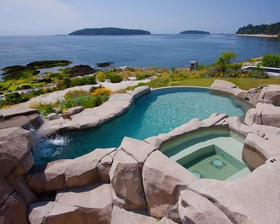 58 Best Swimming Pool Design Ideas with Natural Stone Pool designs