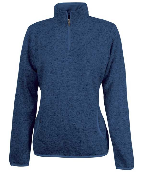 charles-river-apparel-5312-womens-heathered-fleece-pullover-navy ...