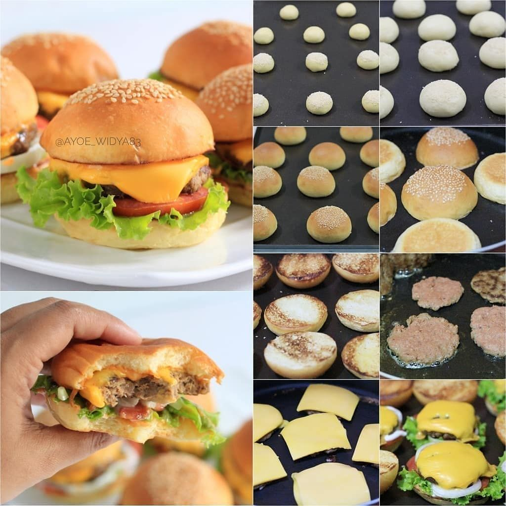 Stepmasak On Instagram Homemade Beef Burger By Ayoe Widya83 Resep Burger Bun Bahan A 200 Gr Tepung Protein Tinggi 50 Food Food And Drink Homemade Beef