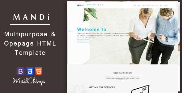 Mandi u2013 Onepage and Multipage Responsive Creative , Corporate - company portfolio template