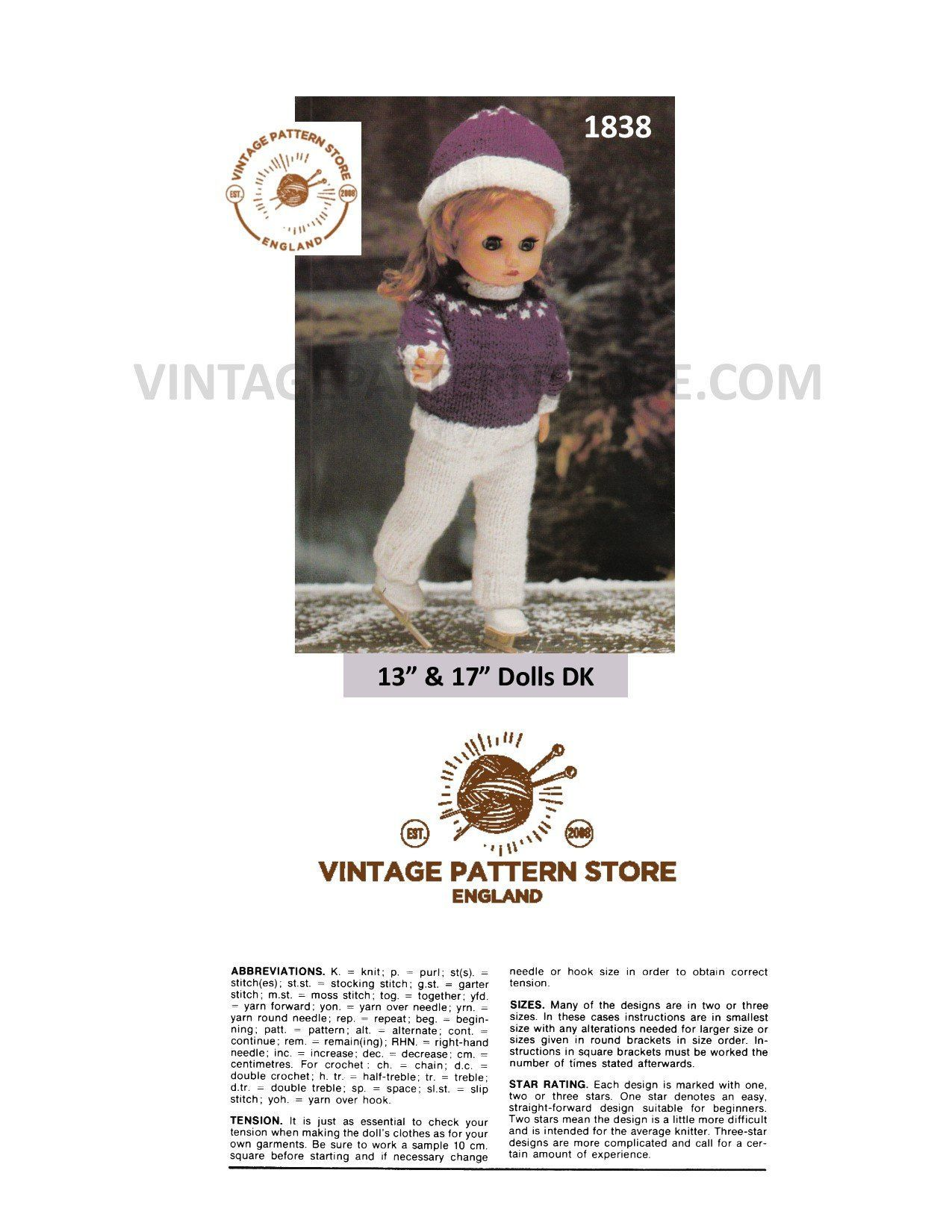 instant download jacket sweater hat trousers PDF knitting pattern toys outfit digital download action figure clothes
