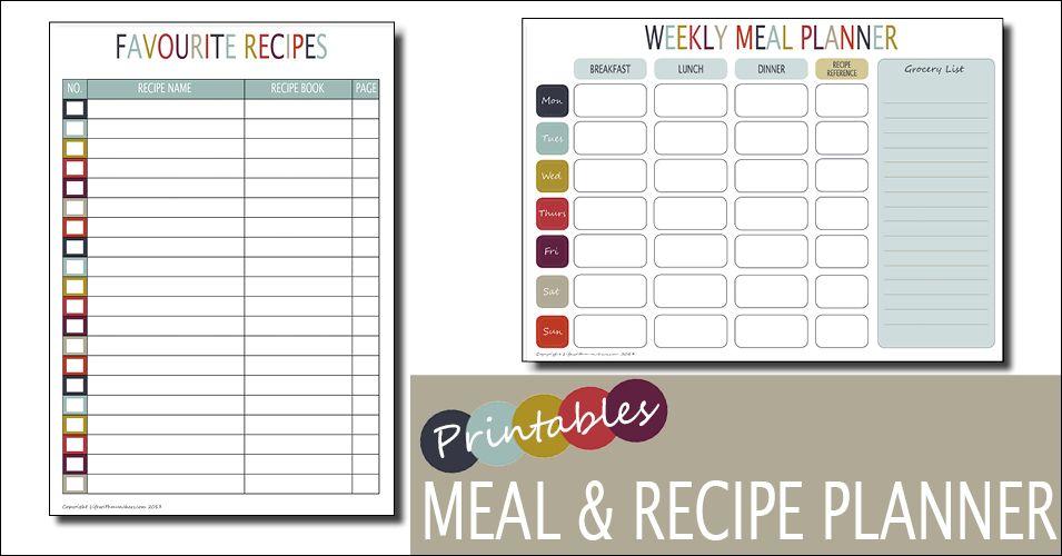 Weekly Meal Planner Template - menu planner template free