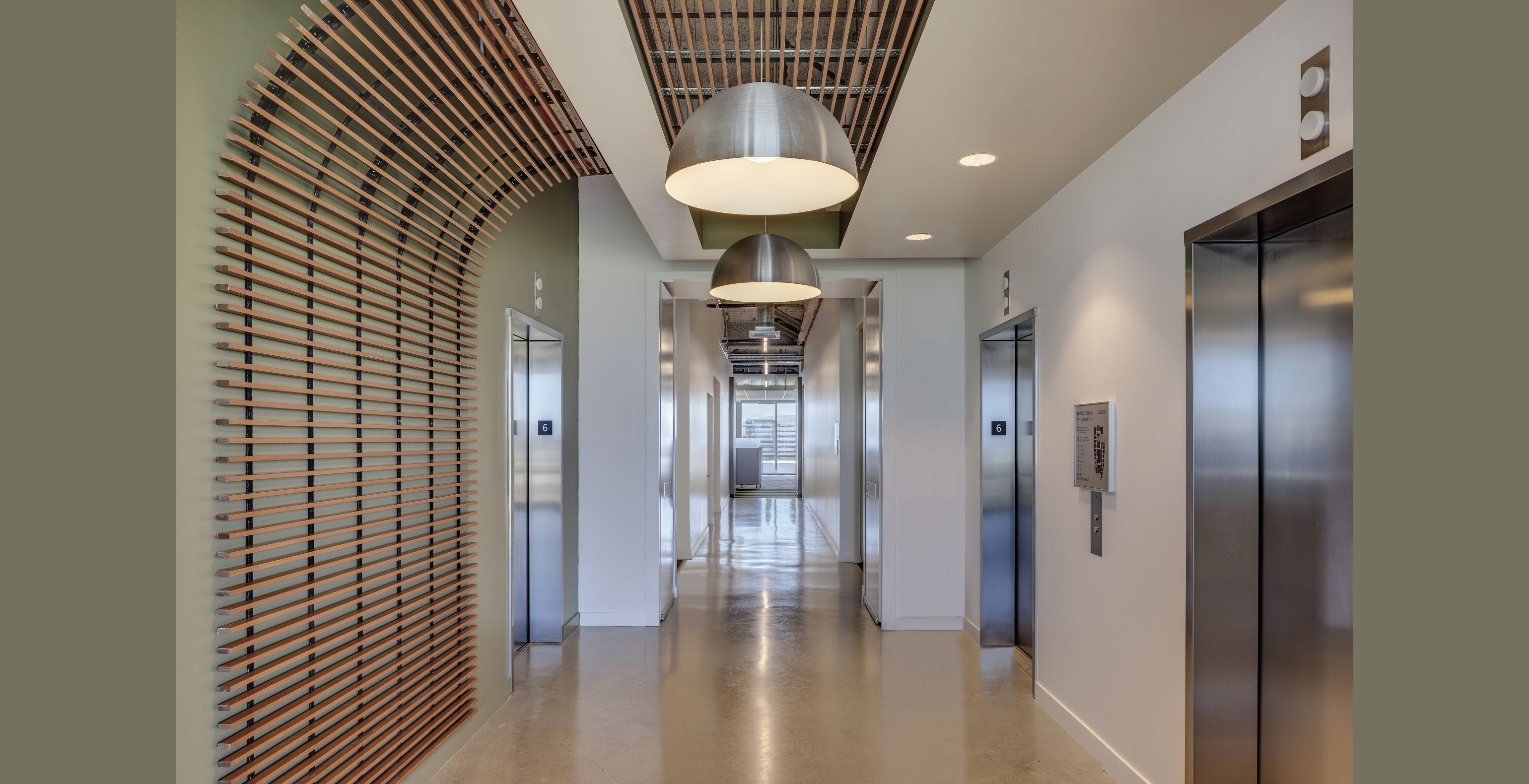 Commercial Ceiling And Wall Systems Idea U0026 Photo Gallery · Hallway CeilingWood  Slat ...