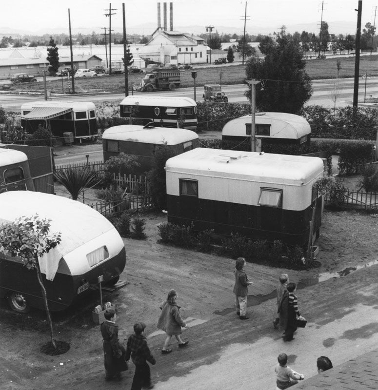 Trailer Park At The Olympic Court Located 2121 Bundy Drive In Santa Monica 1940