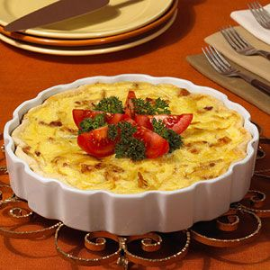 Here's a classic bacon, egg, and cheese quiche recipe that you'll enjoy again and again for brunch or dinner.