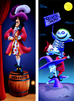 Disney characters as  the haunted mansion streaching portaits part 2.