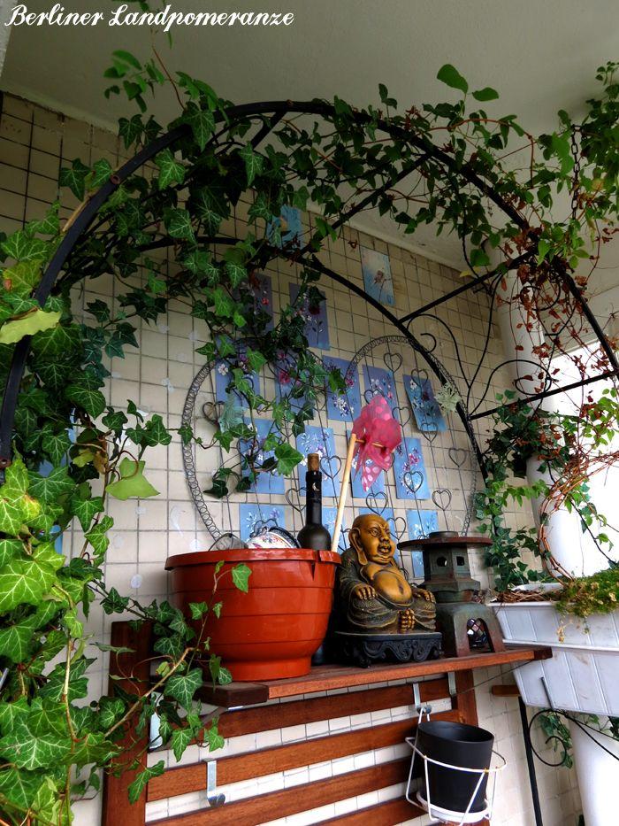 Rosenbogen Modern sommerbalkon rosenbogen mit efeu und clematis summer balcony