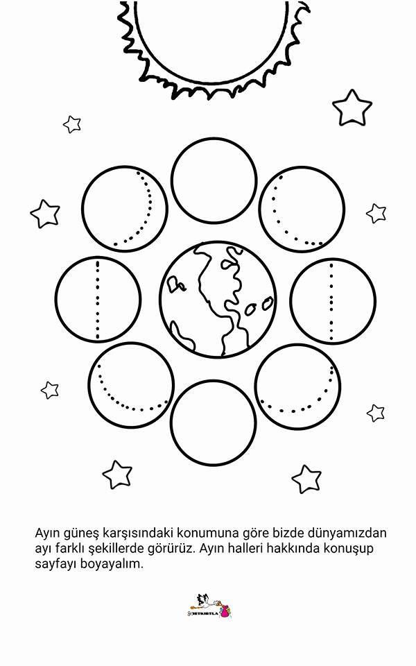 AYIN HALLERİ BOYAMA SAYFASI | διάστημα | Pinterest | Kid activities ...