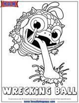 Skylander Wrecking Ball Colouring Pages